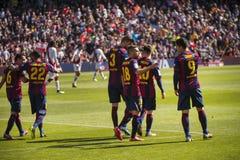 Celebrating the goal! Stock Image