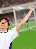 Celebrating a goal - soccer Stock Images