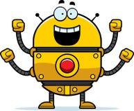 Celebrating Gold Robot Royalty Free Stock Photography