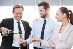 Celebrating good contract. Stock Photos