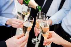 Celebrating great success. Royalty Free Stock Image