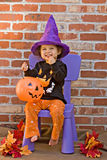 Celebrating Halloween royalty free stock images