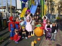 Celebrating Halloween Royalty Free Stock Image