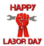 celebrating happy world labour day with a fist royalty free illustration