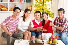 Celebrating at home Stock Image
