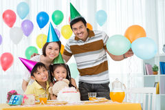 Celebrating at home Royalty Free Stock Images
