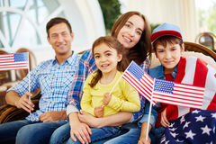 Celebrating Independence Day Stock Photography