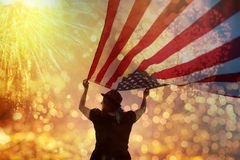 Celebrating Independence Day stock images