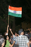 Celebrating India's win in ICC World Cup Finals Stock Photography
