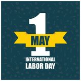 Celebrating labour day design with typography vector. This Vector EPS 10 illustration is best for print media, web design, application design user interface Vector Illustration