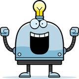 Celebrating Little Robot Royalty Free Stock Images