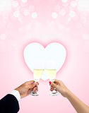 Celebrating of love Royalty Free Stock Images
