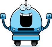 Celebrating Male Robot Royalty Free Stock Image