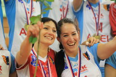 Celebrating Marketa Chlumska - czech volleyball Stock Images