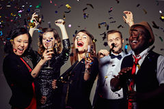 Celebrating Momentous Event with Friends Stock Photography