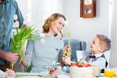 Celebrating Mothers Day Royalty Free Stock Photos
