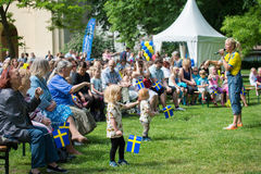 Celebrating the National day of Sweden Royalty Free Stock Image