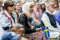 Celebrating the National day of Sweden Royalty Free Stock Photos