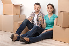 Celebrating a new dwelling. Stock Photo