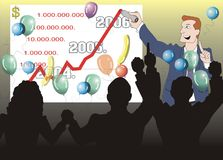 Celebrating new fiscal year. Plans and hopes for next year stock illustration