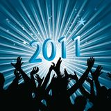 Celebrating new year Stock Images