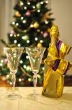 Celebrating new year stock photography