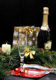 Celebrating New year ( Christmas) Royalty Free Stock Photo