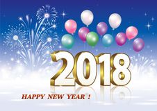 Celebrating the New Year 2018 Royalty Free Stock Photography
