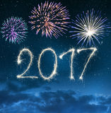 Celebrating the New Year 2017. Royalty Free Stock Photos