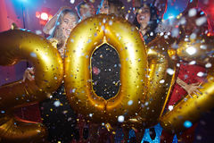 Celebrating new year Royalty Free Stock Photography