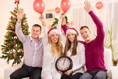 Celebrating New Year Stock Images