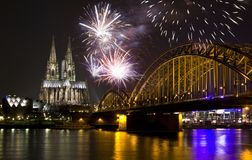 Free Celebrating New Year In Cologne Royalty Free Stock Photos - 101326648
