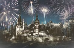 Celebrating New Year  at Peles Castle, fineart edit
