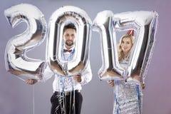 Celebrating New Year`s Eve royalty free stock photo