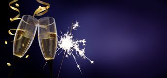 Clink glasses - New Year`s Eve / celebration royalty free stock photos