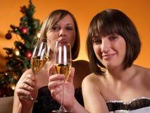 Celebrating New Year Royalty Free Stock Image