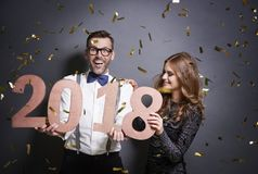 It`s 2018! stock photo