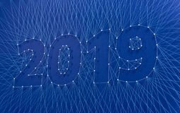 New Year 2019 - Building the future together, as a team. royalty free stock photos