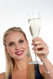 Celebrating new Years'Eve or Birthday Royalty Free Stock Photography