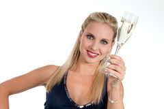 Celebrating new Years'Eve or Birthday Stock Image