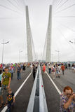 Celebrating the opening of the bridge in Vladivost Royalty Free Stock Photography