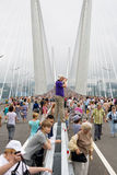 Celebrating the opening of the bridge in Vladivost Stock Image