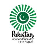 Celebrating Pakistan Independence Day creative vector illustration. 14th August pakistan independence. vector royalty free illustration
