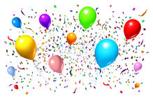 Celebrating With Party Balloons Stock Photography