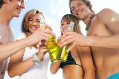 Celebrating party at beach Royalty Free Stock Photography