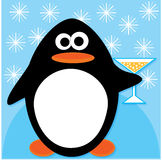 Celebrating penguin Royalty Free Stock Images