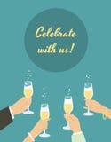 Celebrating poster Stock Photography