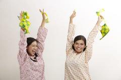 Celebrating raya Stock Images
