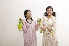 Celebrating raya Stock Image