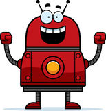 Celebrating Red Robot Royalty Free Stock Photos